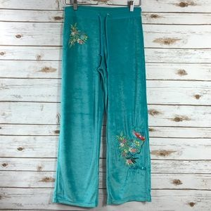 BCBGMaxAzria Floral Embroidered Sweat Pants